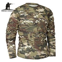 Big Discount Mege Brand Clothing New Autumn Spring Men Long Sleeve Tactical Camouflage T-shirt camisa masculina Quick Dry Military Army shirt Camouflage T Shirts, Military Camouflage, Military Army, Army Shirts, Fall Shirts, Bodybuilding T Shirts, Tactical Shirt, Tactical Gear, Camo Fashion