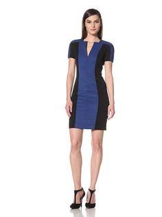 60% OFF Black Halo Women\'s Palmer Colorblocked Dress (True Blue/Black)
