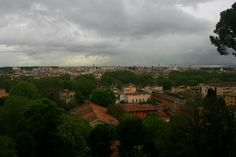 Gianicolo Hill situated right about Rome's lovely Trastevere area offers a sweeping view of the city rain or shine.