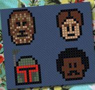 Chewbacca, Han Solo, Boba Fett and Lando Calrissian
