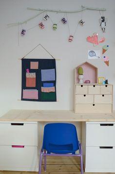 Nyt skrivebord på børneværelset