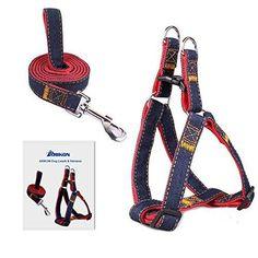 ARIKON Adjustable Dog Leash Harness Collar M (20-50 lb)