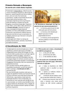 III Atividade Avaliativa de História 4º e 5º ano pdf