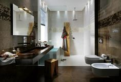 25 Splendid Modern Bathroom Design Trends - We have some design ideas and decorations are very creative as you\'ve never thought to design your bathroom design Trendy Bathroom Tiles, White Bathroom Designs, Latest Bathroom Tiles Design, House Design, Tile Design, Minimalist Bathroom Design, Bathroom Tile Designs, Bathroom Design, Beautiful Bathrooms