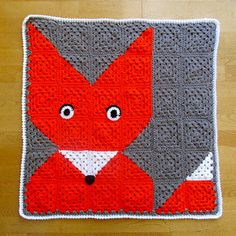 """What Does the Fox Say?"""" Baby Blanket ~ Read through the notes on Ravelry to figure out how to make this blanket"""