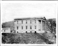 Exterior view of the state capitol building, Benicia, California, ca.1853-1876 :: California Historical Society Collection, 1860-1960