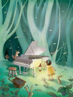 Animais ao piano