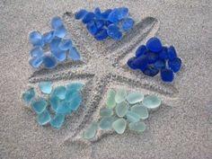 sand starfish & sea glass
