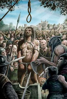 William Wallace - Execution On 23rd August 1305, William Wallace was brutally executed at Smithfield, London....hanged, drawn and quartered.