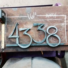 Custom Made Hand Forged Metal House Numbers