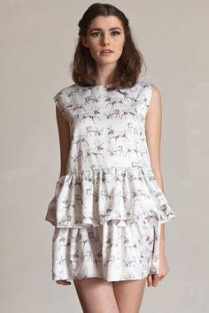 hand drawn reindeer dress