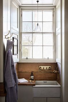 Butler Sink - Ideas for bathrooms - small and large cabinets, tiles, mirrors & storage - bathrooms on HOUSE by House & Garden Badezimmer Bad Inspiration, Bathroom Inspiration, Bathroom Ideas, Bathroom Small, Bathroom Designs, Bathroom Pink, Mosaic Bathroom, Garden Bathroom, Bathroom Stuff