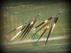 porcupine quill earrings, coolest earrings I own