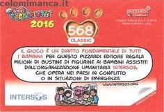 Amici Cucciolotti 2016: Retro Figurina n. 568 -
