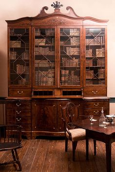 "Mahogany ""Holmes Bookcase"" (c. 1770), Heyward Washington House, Charleston-Isn't it beautiful?!"