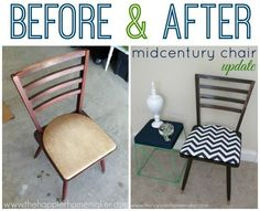 LOVE this!!!  MidCentury Chair Makeover