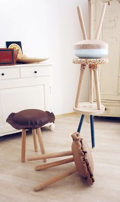 CRAZY GOOD DESIGN: Kirstin Overbeck's Candy Collection, 3 Legged Stools