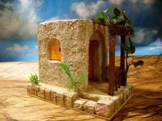 1000 images about casitas para el belen on pinterest - Casa para el belen ...
