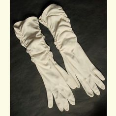 Vintage Gloves Ruched Mid Length