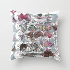 Deconstruction #1 Throw Pillow by Dreamy Me Free shipping worldwide http://society6.com/ElenaBlanco?promo=Y349Z3PVQB4X