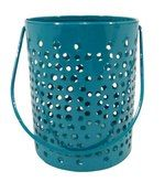 Gol Maal Shop Iron Sky Blue Bucket Votive by Gol Maal Shop Online  - Candle Holders - Home Decor - Pepperfry Product