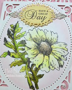 Chameleon™ Color Tones Marker Pens - Hello Daisy Card - Close up