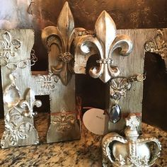 You might call it alphabling. These beautiful letters make wonderful decorative #accents. Call my That's Haute store at 817-545-8600 to get the details. #HomeDecor #DonnaMossDesigns #DonnaDecoratesDallas http://www.thats-haute.com/