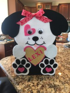 Puppy Valentine's Day box for Lexi