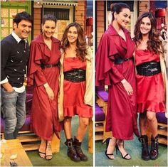 Fashion Faceoff: Sonakshi Sinha or Kajol, who wore the marsala trench dress better? | PINKVILLA