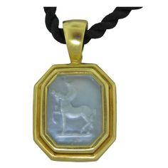 Elizabeth Locke Jewelry | ELIZABETH LOCKE Gold Mother Of Pearl Intaglio Pendant Necklace at ...