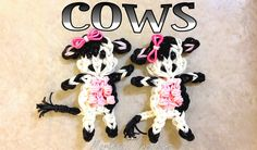 Rainbow Loom Cow  with Udders - Single Loom Tutorial