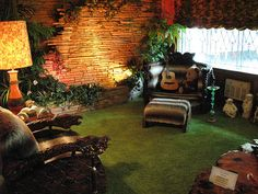 the jungle room (at graceland) by el neato, via Flickr