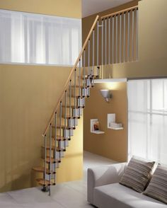 We show here some great ideas and designs for space saving stairs