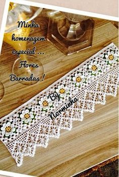 Crocheted edging free pattern-this is added to another pattern Crochet Boarders, Crochet Lace Edging, Crochet Chart, Crochet Squares, Thread Crochet, Crochet Trim, Love Crochet, Filet Crochet, Irish Crochet