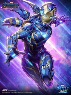 marvel avengers ArtStation - Marvel Battle Lines Artwork - Rescue (EndGame), HAJE 714 - Iron Man Avengers, The Avengers, Marvel Dc Comics, Marvel Vs, Marvel Memes, Thanos Marvel, Groot Comics, Dc Comics Heroes, Captain Marvel