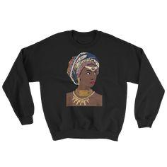 African Headwrap Diva Ladies' Sweatshirt