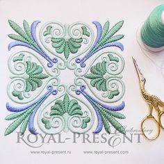 Machine Embroidery Design Vintage Greek Ornament - 3 sizes