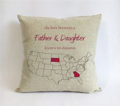 long distance father daughter pillow-burlap fathers by Pillow6218