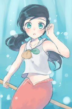 My new daughter, she is ten and can turn into mermaid. She was held kidnapped on Lokis Island. Her name is now Katja Marine.