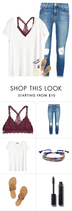 """what am I supposed to do? just sit around and wait for you?"" by pineapple5415 ❤ liked on Polyvore featuring J Brand, H&M, Ettika, Tory Burch and Chanel"