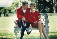 Former U.S. President Ronald Reagan and First Lady Nancy Reagan share a moment in this undated file photo. Description from nbcnews.com. I searched for this on bing.com/images