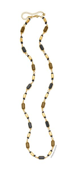 """An everyday staple that's anything but basic, this gold-tone necklace is the ultimate in ease. Wear it alone, add an enhancer or layer with other necklaces for even more options. Gold tone, resin, acrylic, 36"""" necklace with 4"""" removable extender and double lobster clasps. Item #20700"""