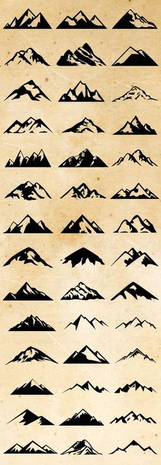 Check out Mountain Shapes For Logos Bundle by lovepower on Creative Market // Montagnes graphisme simplifié 1 Tattoo, Piercing Tattoo, Get A Tattoo, Arm Tattoos, Cool Tattoos, Tatoos, Tattoo Small, Tattoo Skin, Tattoo Fonts