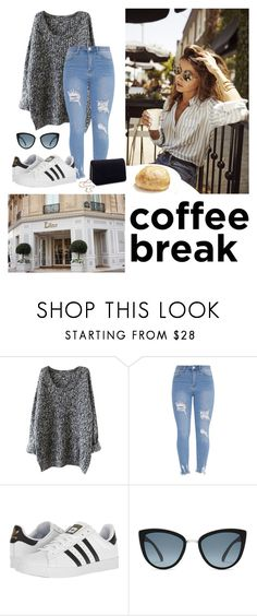 """coffee break inna sweater"" by mykelldillon ❤ liked on Polyvore featuring adidas, Topshop and Miss Selfridge"