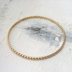Bracelet jonc travaillé en plaqué or 750/1000