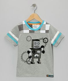 Look at this #zulilyfind! Gray Robot Football Tee - Toddler & Boys by Lazoo #zulilyfinds