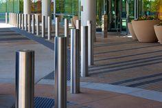 Modern stainless steel bollards by DAMON FARBER.  Contemporary, metal, bollard.
