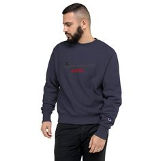 Champion Sweatshirt by HouseofMogul1 on Etsy Champion Brand, Champion Sweatshirt, Bold Prints, Marketing And Advertising, Street Wear, Trending Outfits, Sweatshirts, Sweaters, Mens Tops