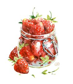 Jar of Strawberries