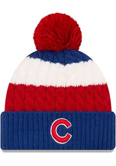 92e716cd4 New Era Chicago Cubs Blue Layered Up Womens Knit Hat - 5903507